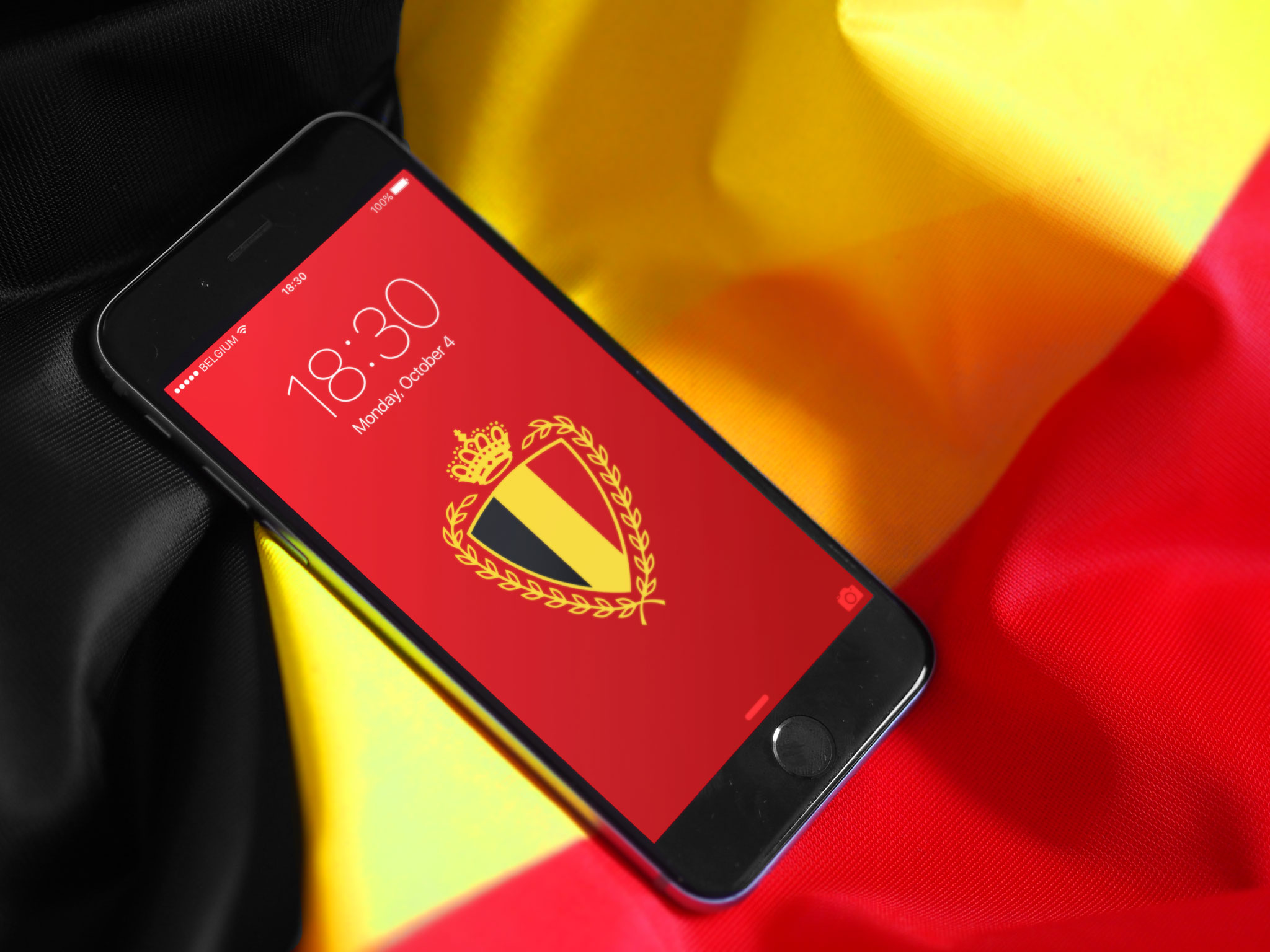 belgian red devils wallpaper on iphone with belgian flag background